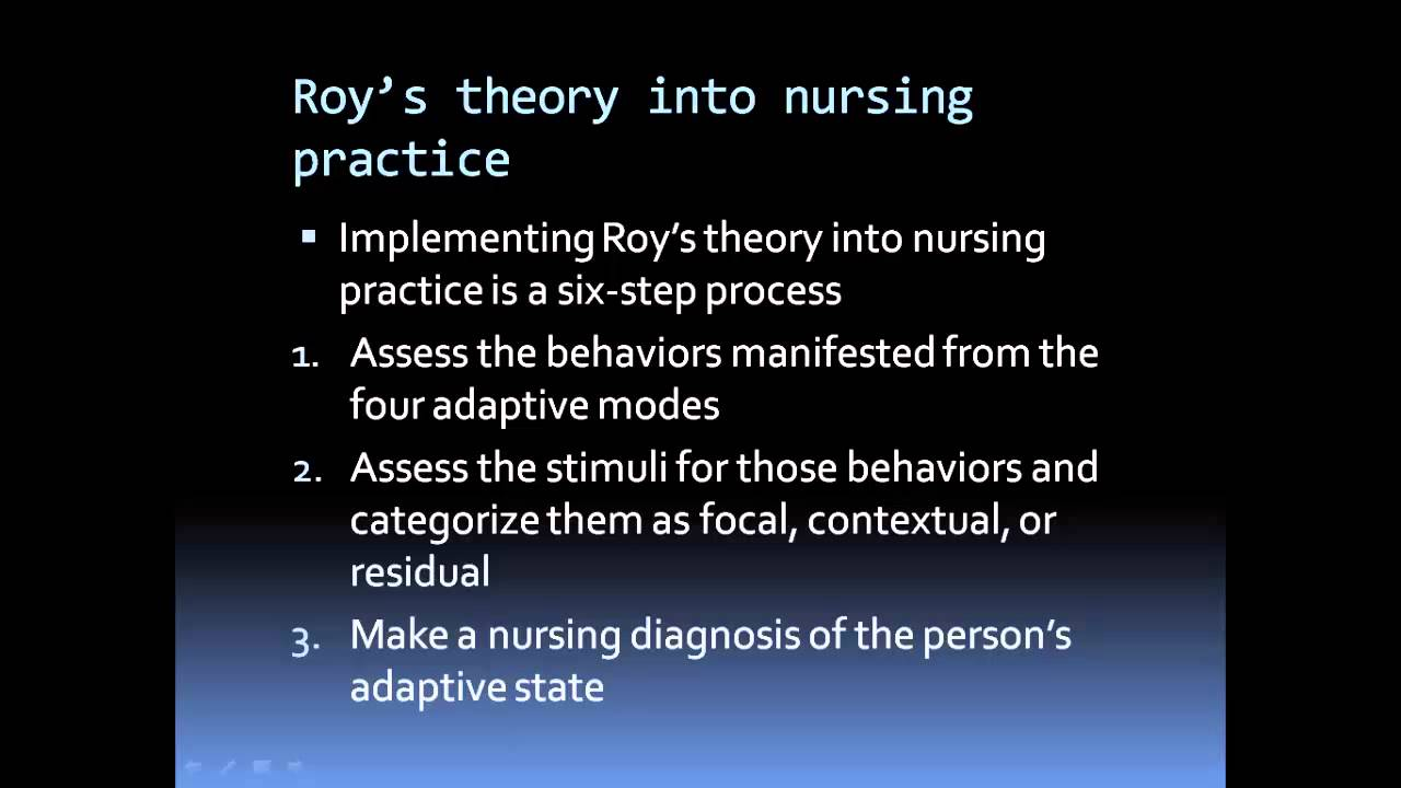 history of sister roy callista adaption model In her theory, sister callista roy's model sees the individual as a set of interrelated systems who strives to maintain balance between various stimuli the roy adaptation model was first presented in the literature.