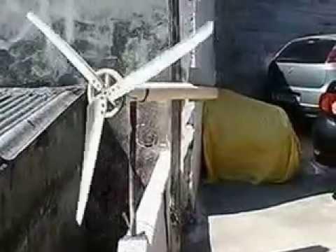 como fazer gerador eolico caseiro 80 wats com menos de 10 reais