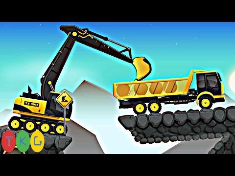 Lắp ráp Xe xúc đất, Máy ủi đất, Xe cần cẩu, Xe tải 33 | Kids Pluzzle CONSTRUCTION CITY 2 [150-153]