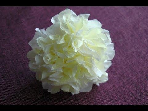 Jak zrobić kwiatek z bibułki DIY