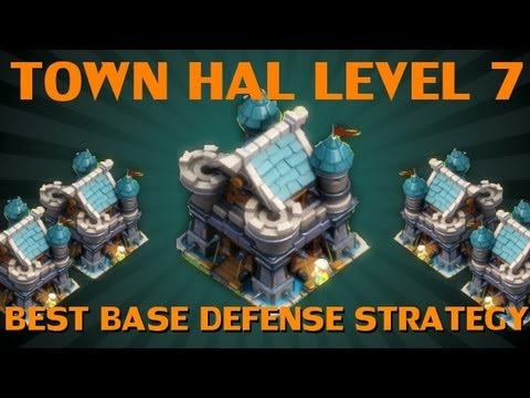 Clash of Lords - Best Base Defense for Town Hall level 7 - YouTube