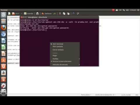Encriptar Simetrico y Asimentrico con OpenSSL