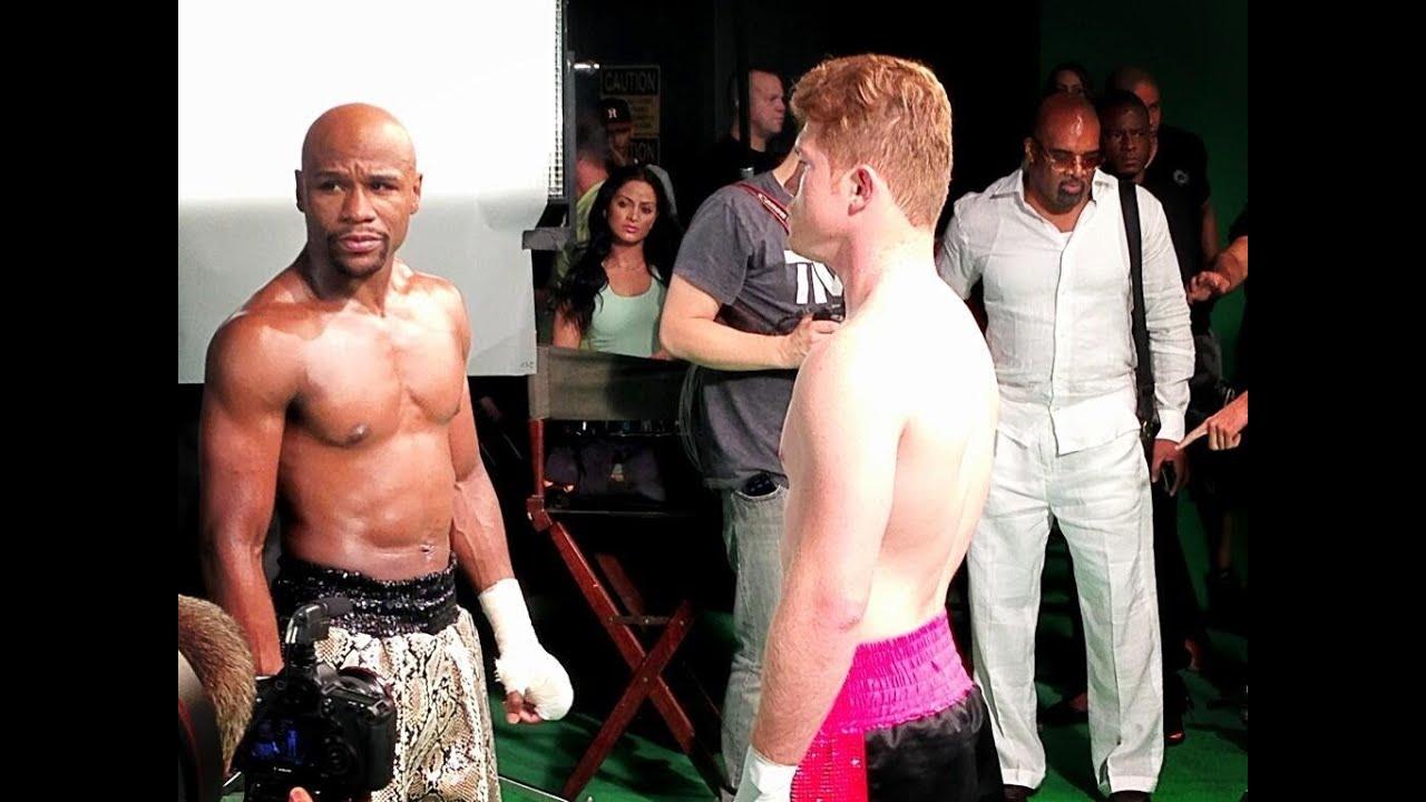 Floyd Mayweather faces off with Saul Canelo Alvarez
