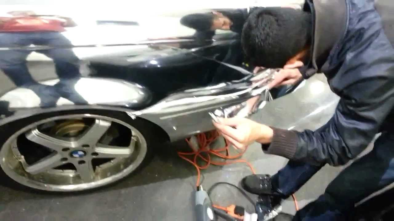 Amateur Chrome Vinyl Wrap First Time Youtube