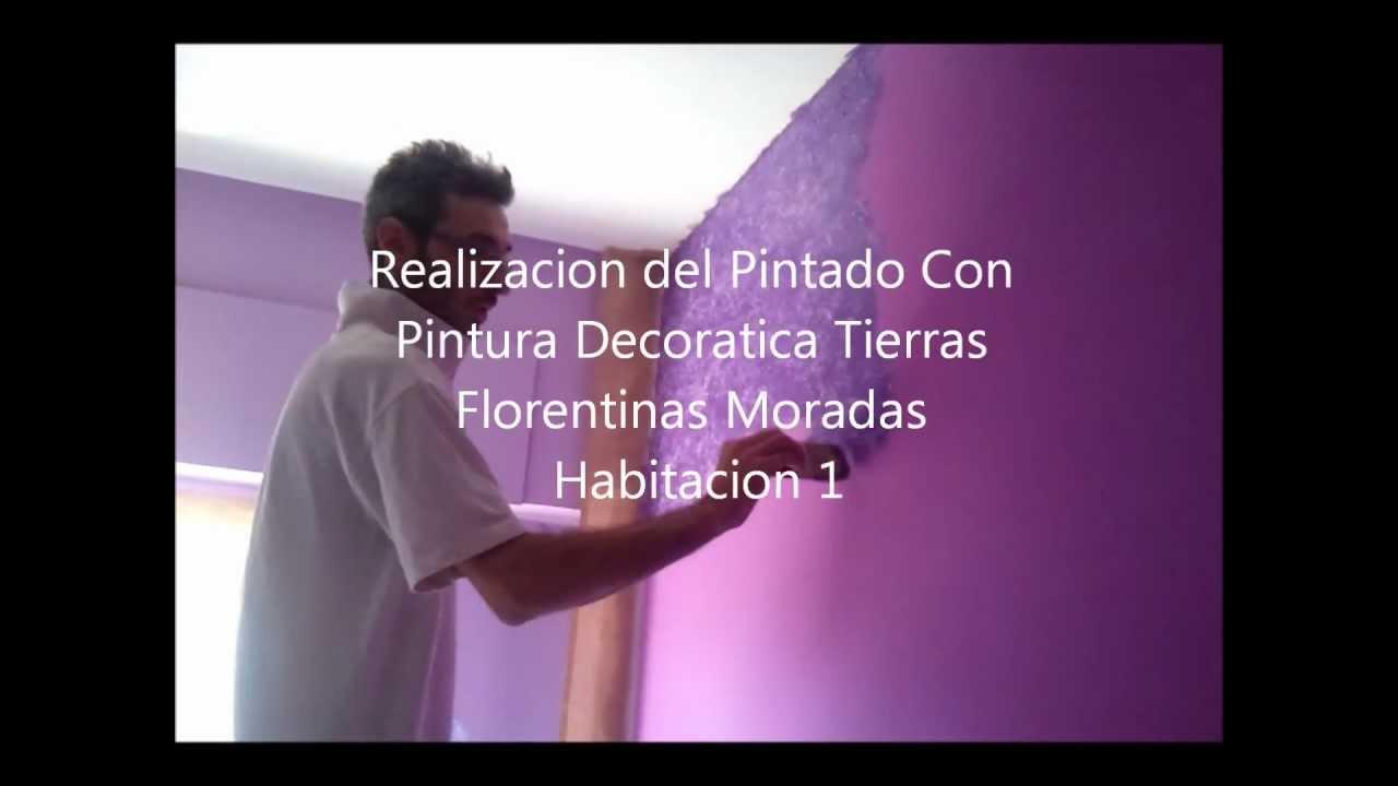Quitar gotele y como aplicar tierras florentinas moradas y plastico morado youtube - Quitar gotele plastico ...