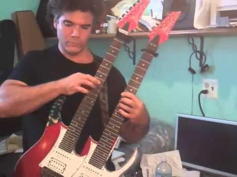 Improvisation 1 Robert McDonald Double Neck Guitar tapping hammer on