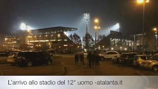 UEL Atalanta-Lione l'arrivo allo stadio del 12° uomo