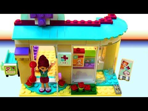 Lego Friends - Bệnh Viện Thú Y- Lắp Ghép Trạm Chữa Bệnh Chó Mèo (Chị Bí Đỏ)