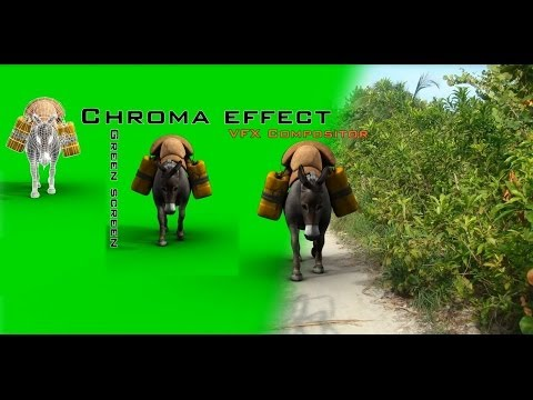 Chroma effect Green screen VFX compositor by Yantram Animations Studio