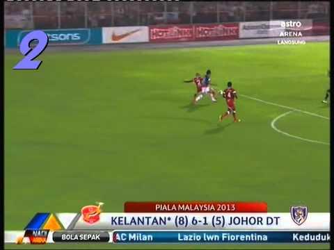 Kelantan - JDT 6-1 Suku Akhir Piala Malaysia 2013 - goals