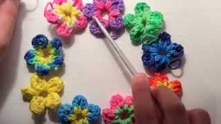 How To Make A Flower CharmWith Just Your Hook! (Rainbow