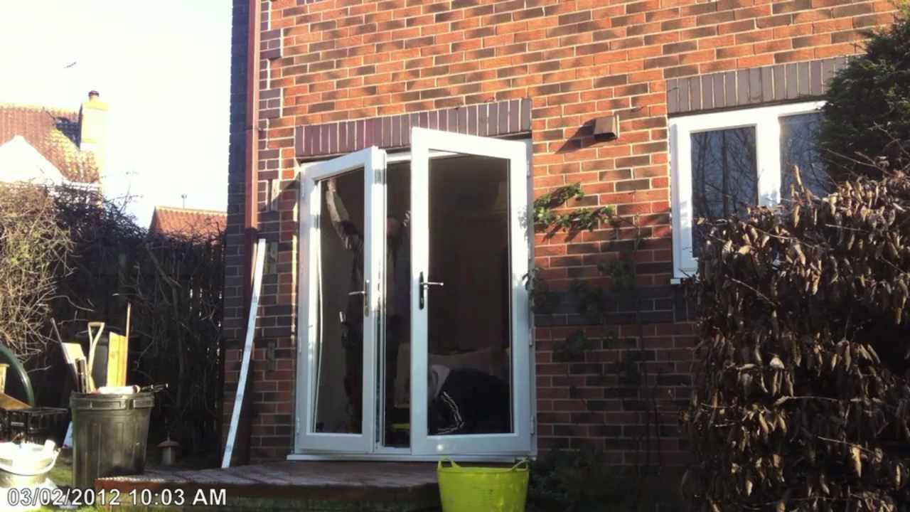 How to fit a pair of upvc french doors timelapse hd app for Upvc french doors yorkshire