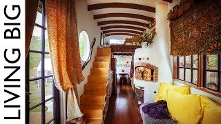 Amazing DIY European Style Tiny House With Pizza Oven
