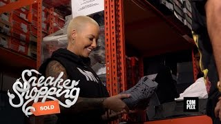 Amber Rose Goes Sneaker Shopping With Complex