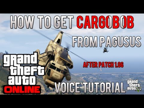 GTA ONLINE: How To Get Cargobob From Pegasus After Patch 1.06 TUTORIAL
