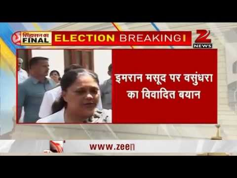 Vasundhara Raje slams Imran Masood, says will see who 'gets chopped up' after elections