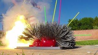 Best Experiment 2017 Sparklers vs Giant Gummy Bear Top Challenge!!