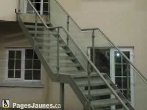 Fabrication Rampe Escalier D 39 Aluminium Prestige Inc Mont Youtube