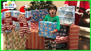 Christmas Morning 2016 Opening Presents with Ryan ToysReview