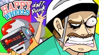 """GET BLOODY"" Daft Punk Happy Wheels Parody (Animated"
