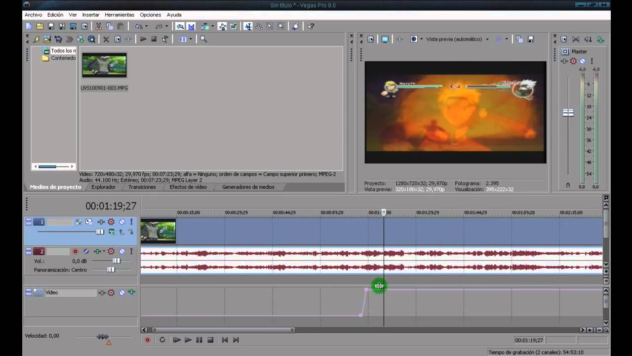 how to add motion blur to sony vegas