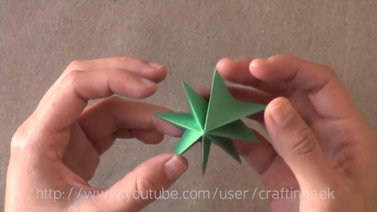 Pinito sencillo papel youtube - Manualidades con papel de colores ...