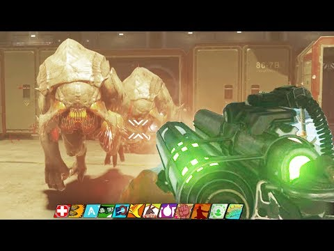 THE BEAST FROM BEYOND: BOSS FIGHT EASTER EGG ENDING GAMEPLAY! (Infinite Warfare Zombies DLC 4)