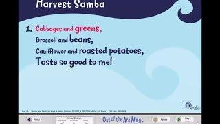 Harvest Samba Words On Screen™ School Songs