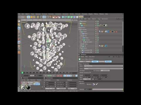 Create an animation using dynamics in Cinema 4D (4 of 6)
