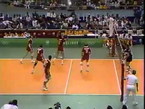 '88 Men's Olympic Volleyball: USA vs Russia