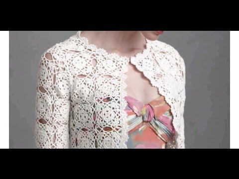 tutorial crochet como realizar chaqueta/cardigan con granny