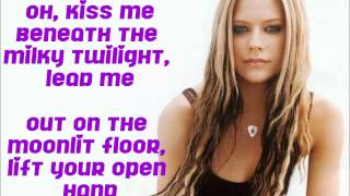 Kiss Me Avril Lavigne + Lyrics