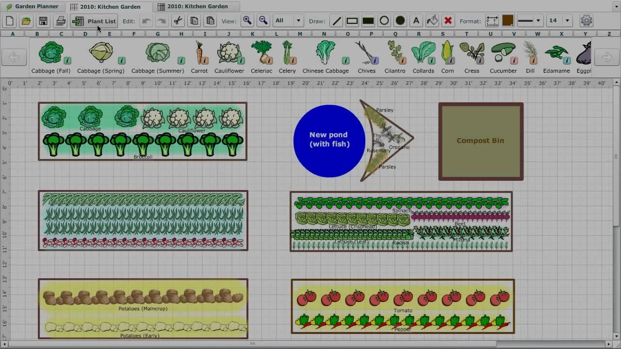 Vegetable Garden Planner YouTube