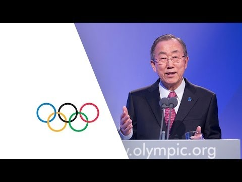 Secretary General of the United Nations speak at the 126th IOC Session in Sochi - Russia