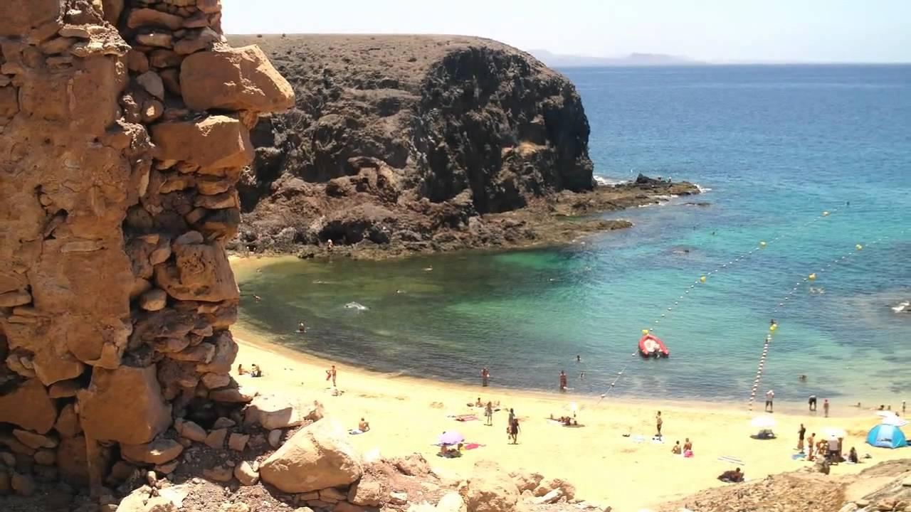 Playa Papagayo Lanzarote in HD - YouTube