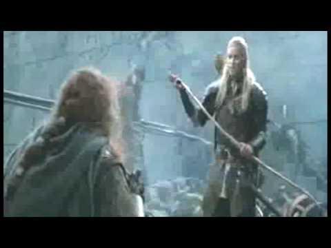 Legolas kills Gimli