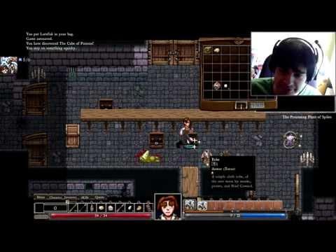 """Видеопрохождение """"рогалика"""" Dungeons of Dredmor с вебкамерой"""