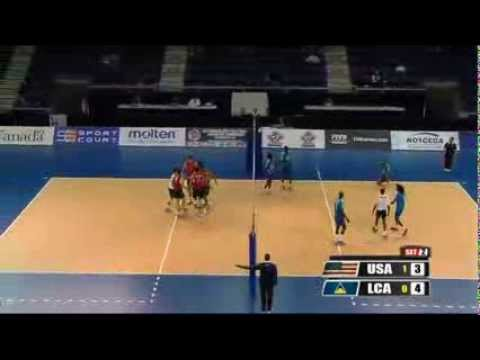 NORCECA Championship 2013 USA vs St Lucia   Sep 23, 2013