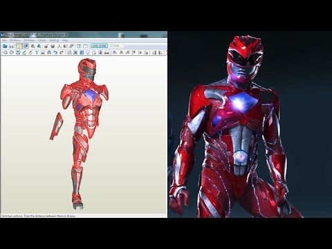 Power Rangers 2017 - Red Ranger Suit - Pepakura Files