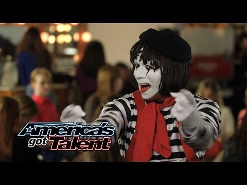 Larry The Mime: Nick Cannon Pulls Prank On Judges - America's Got Talent 2014 (Highlight)