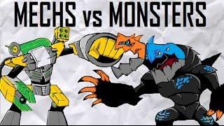 CLOSED! Mechs Vs Monsters MOC Contest (10,000-ish Sub