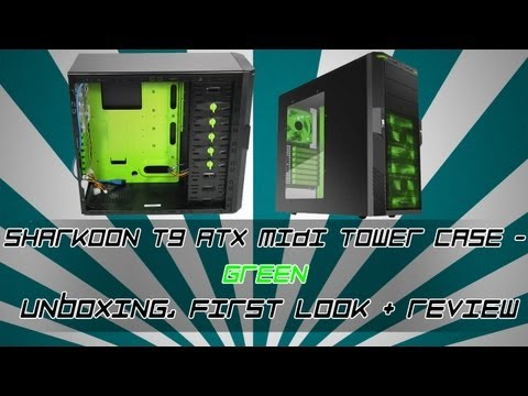 Sharkoon T9 ATX Midi Tower Case - Green - Unboxing, First Look + Review