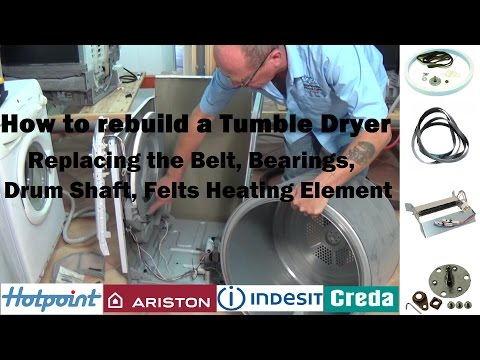 How to rebuild a tumble dryer that's not turning or noisy Hotpoint, Indesit, Creda, Ariston etc