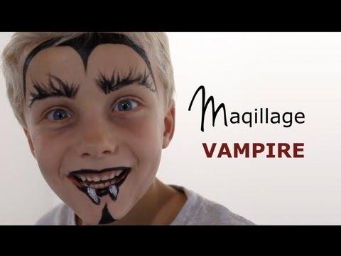 Maquillage enfant - Maquillage vampire facile ...
