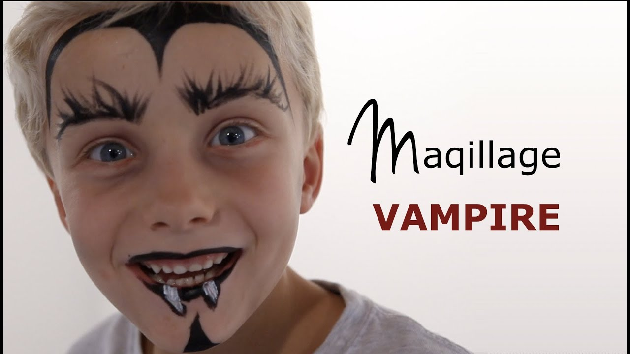 Maquillage vampire tutoriel maquillage enfant facile youtube - Halloween maquillage facile ...