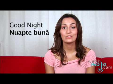 how to say goodnight in romanian