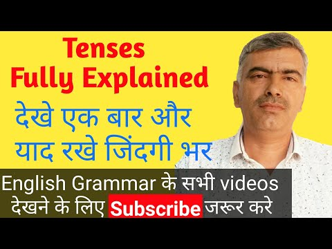 tenses, basic English grammar (in Hindi )(all 12 parts of tenses)explanation with examples
