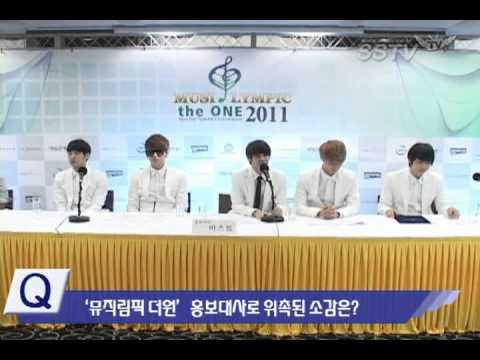 110703 BEAST @ MusicLympic Ambassador Press Conference