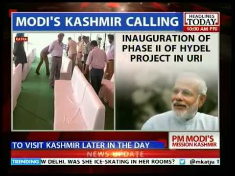 PM Modi lands in Jammu & Kashmir