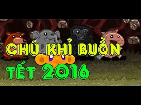 Game chú khỉ buồn Tết 2016 - Video hướng dẫn chơi game 24h